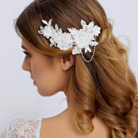 Lace Bridal Hair Piece With Rhinestone - Lace Wedding Hair ...