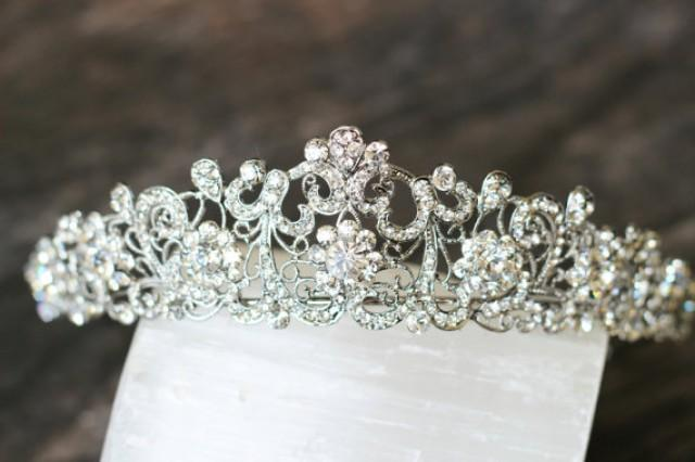 Diadem Hochzeit Günstig Swarovski Crystal Filigree Bridal Tiara, Crystal Wedding