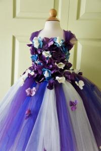 Flower Girl Dress, Tutu Dress, Photo Prop, In Purple Blue ...