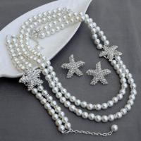 Bridal Pearl Rhinestone Necklace Bracelet Earring Crystal ...