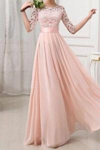 Long Bridesmaid Dress, Lace Bridesmaid Dress, Cheap Prom ...