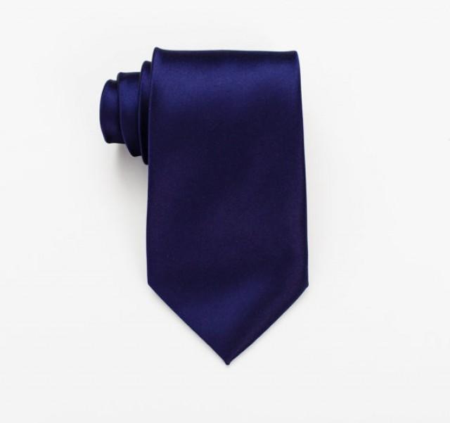 Midnight Blue Skinny Tie. Navy Skinny Tie. Solid Skinny