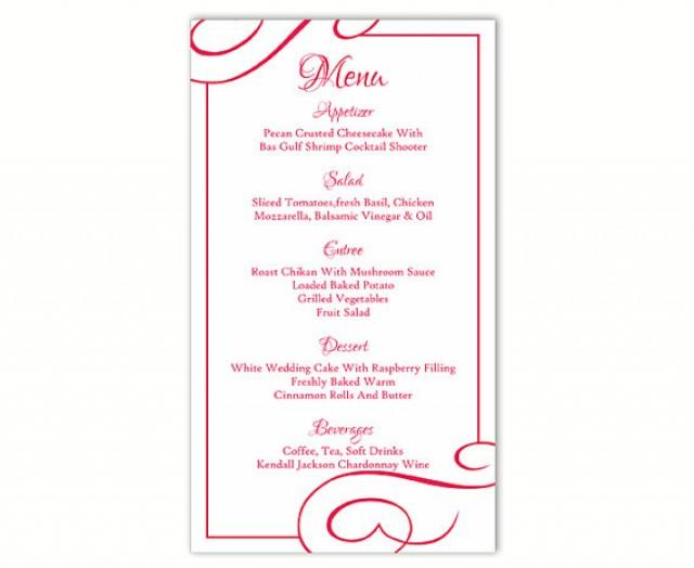 wedding menu card templates xv-gimnazija