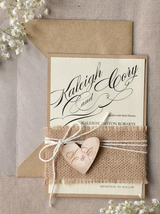Rustic Wedding Invitations 20 Wedding Invitation Suite