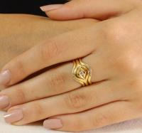 Engagement Wedding Set , Diamond Engagement Ring , Yellow ...