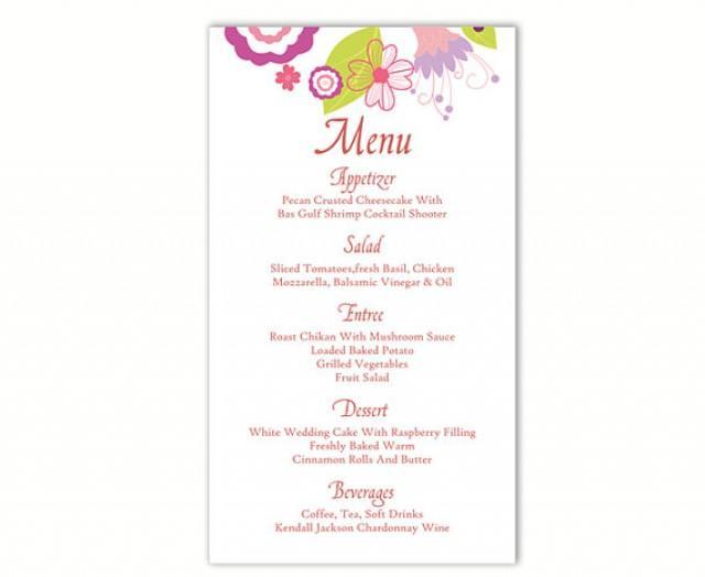 wedding menu template word 3slufsluidsprekers