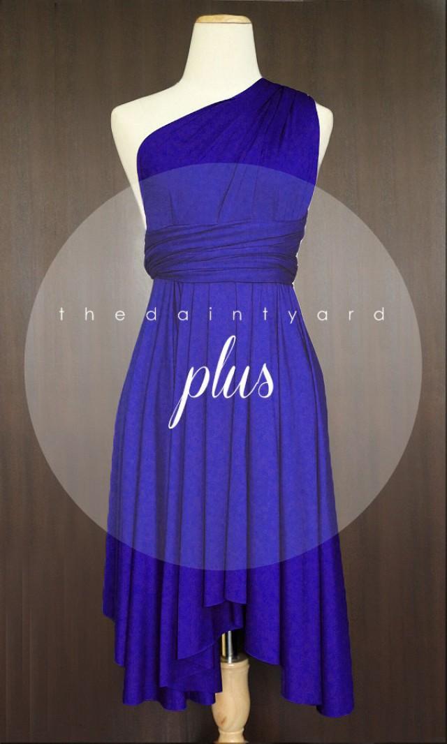 Plus Size Royal Blue Bridesmaid Dress Convertible Dress