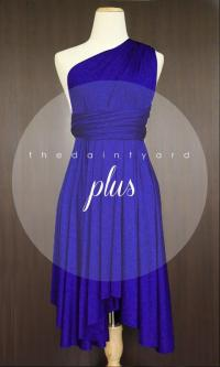 Plus Size Royal Blue Bridesmaid Dress Convertible Dress ...
