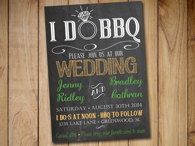i do bbq wedding invitations templates - 28 images - 53 bbq - chalk board invitation template