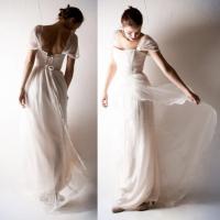 Bohemian Wedding Dress, Romantic Wedding Dress, Boho ...