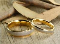 Custom Gifts His And Her Promise Rings - Yellow Gold ...