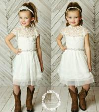 Stunning Flower Girls Dress,rustic Flower Girl Dress ...