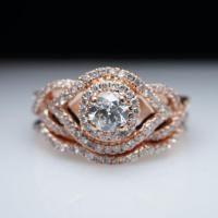 Infiniti .83ctw Diamond Rose Gold Engagement Ring ...
