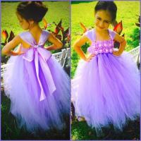 Lavender Orchid Flower Girl Dress, Lavender Dress, Girls
