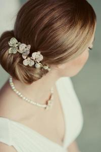 wedding hair orchids vintage inspired crystal wedding comb ...