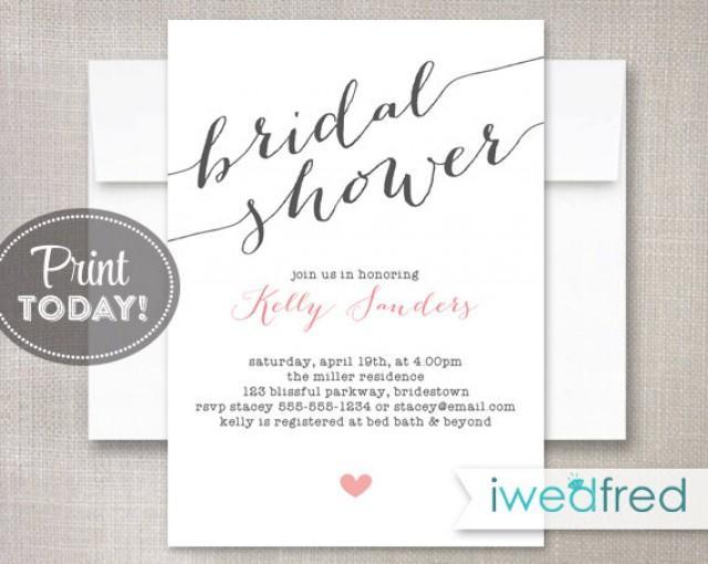 free printable bridal shower invitation templates - Josemulinohouse - free printable wedding shower invitations templates
