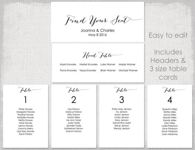Template For Wedding Table Plan Wedding Table Seating Plans Template