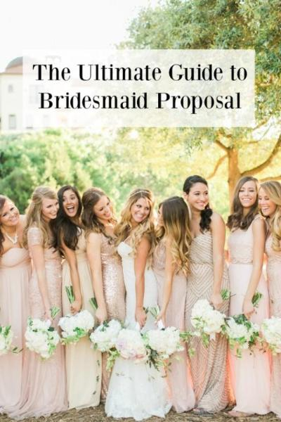 The Ultimate Guide To Bridesmaid Proposal Ideas - Belle The Magazine - Weddbook