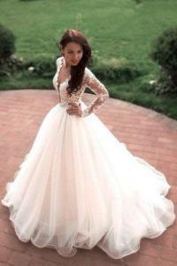 Vintage Boho Summer Wedding Dresses Princess Tulle Lace ...