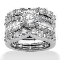 PalmBeach Jewelry Platinum Over Sterling Silver ...