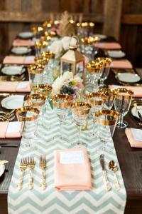 Mint Wedding - Beautiful Table Setting #2030863 - Weddbook