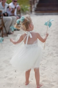 Destination Wedding - Beach Flower Girl Dress In Ivory ...