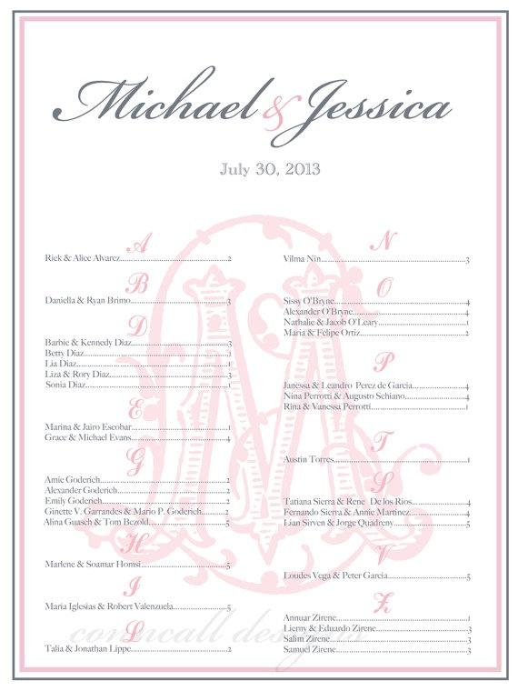 Wedding Seating Chart, Seating Poster, Reception Seating Board