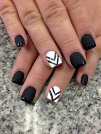 Wedding Nail Designs - Black And White Nail Art #2051116 ...