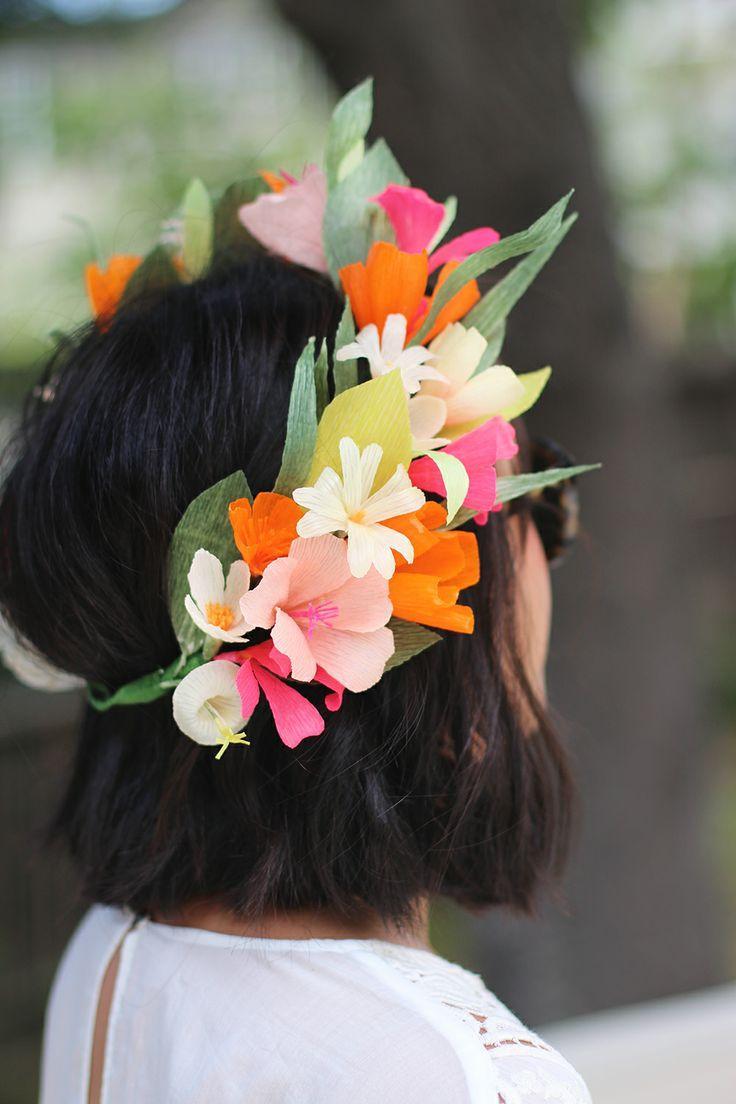 paper flower crown diy