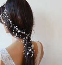 Pearl Headband, Wedding Pearl Headband, Bridal Hair