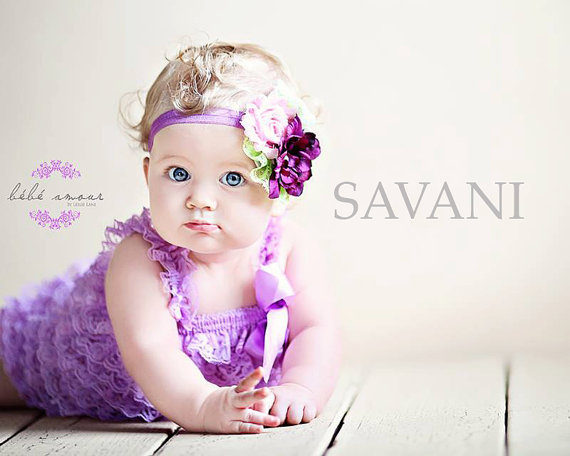 Cute Baby Boy And Girl Hd Wallpapers Baby Girl Romper 2 Pcs Lavender Romper Amp Headband Petti