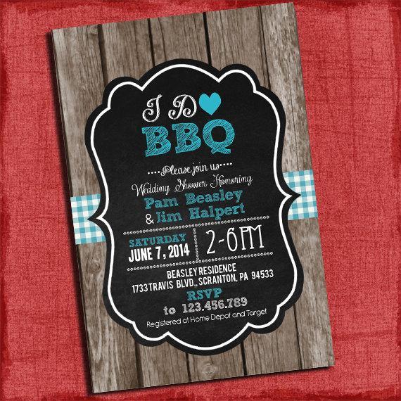 Printable \ - i do bbq wedding invitations