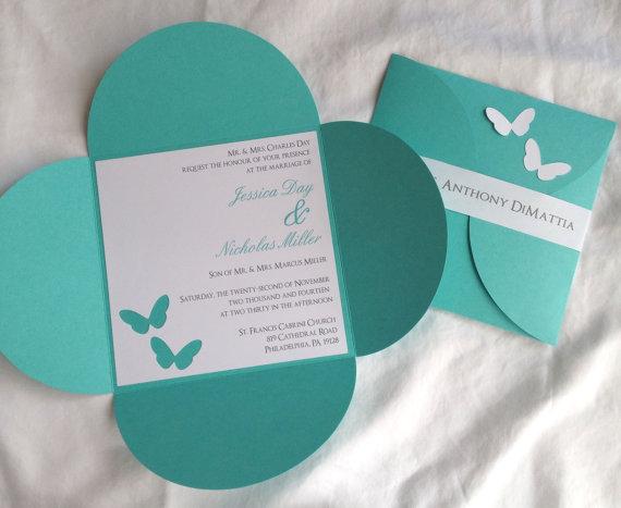 6 1 4 X 6 1 4 Petal Butterfly Wedding Invitation 2220908
