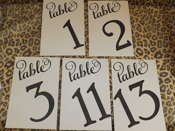 Table Numbers, Wedding Table Seating Numbers 1-20, Flat Numbers