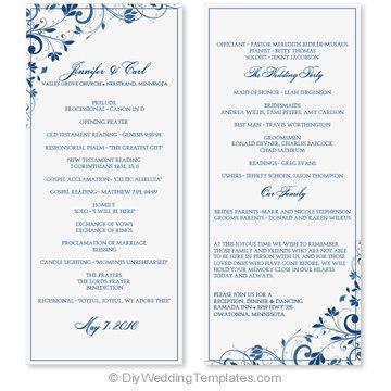 wedding program templates free word - Yenimescale