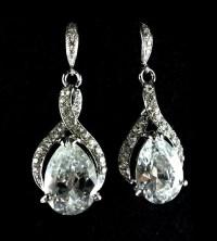 Infinity Bridal Earrings, Crystal Dangle Earrings, Cubic ...