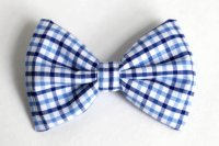 Boys Bow Tie Navy And Light Blue Plaid, Newborn, Baby ...