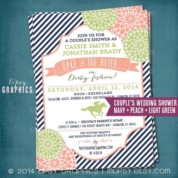 Kentucky Derby Race To The Alter Bridal/Wedding Shower Invitation