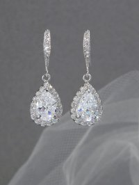 Crystal Bridal Earrings Wedding Jewelry Swarovski Crystal ...