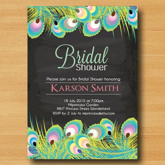 Bridal Shower Invitation Wedding Shower Invitation Chalkboard