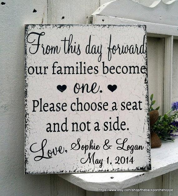 CUSTOM - PERSONALIZED - From This Day Forward - No Seating Plan