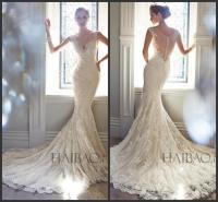 Best Selling 2015 Vintage Wedding Dresses V Neck Sheer ...