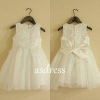2015 Flower Girl Dress Ivory Flower Girl Dress Girls Lace ...