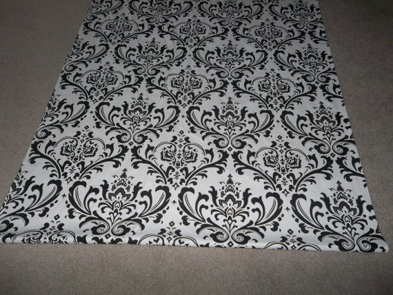 Black And White Damask Carpet Runner Carpet Vidalondon