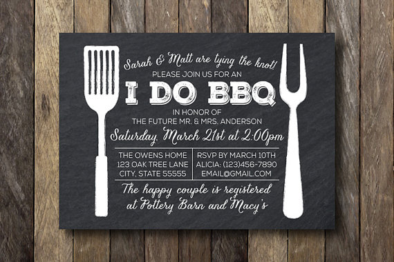 I Do Barbecue Invitation - Engagement Party Invitation - Printable I