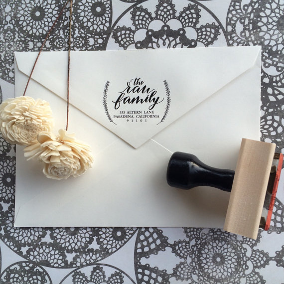 Address Stamp / Calligraphy Stamp / Wedding Stamp / Wedding