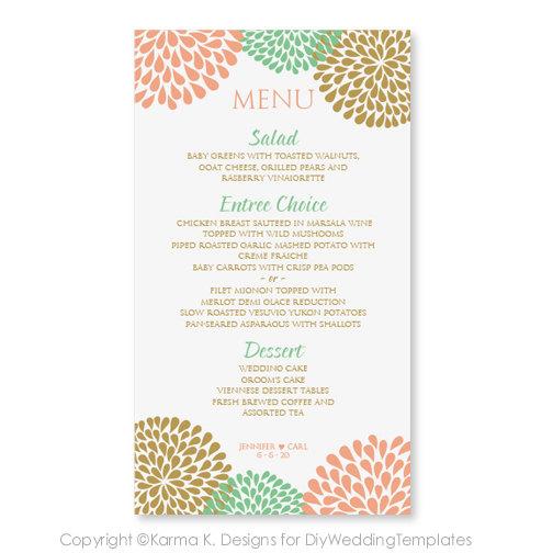 pretty menu template - Minimfagency