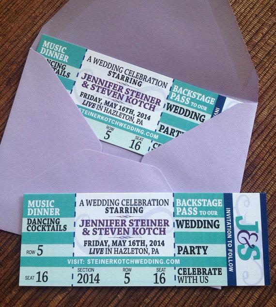 Concert Ticket Save The Date / DIY Printable Wedding Invitation
