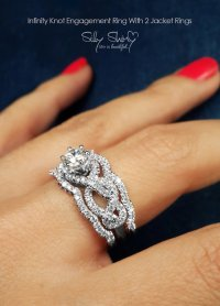 Infinity Engagement Rings - Infinity Knot Engagement Ring ...
