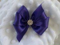 Wedding Dog Hair Bow Custom Made Ribbon And Rhinestone ...